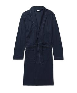 Zimmerli | Bon Vivant Piped Waffle-Knit Cotton Robe