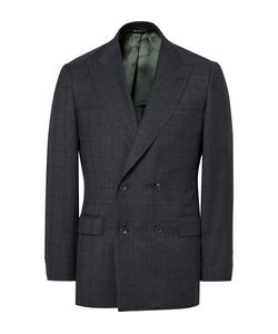 Richard James | Blue Seishin Slim-Fit Double-Breasted Prince Of Wales Checked Super 130s Wool