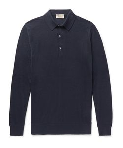 John Smedley | Lanlay Cotton And Cahmere-Blend Polo Hirt