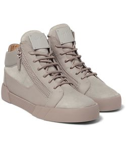 Giuseppe Zanotti Design | Leather And Suede High-Top Sneakers