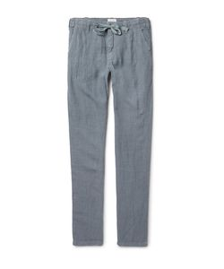 Hartford | Troy Slim-Fit Linen Drawstring Trousers