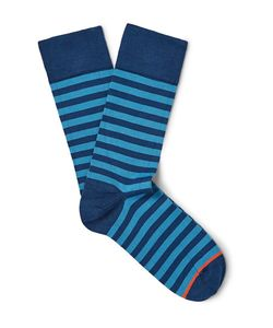 John Smedley | Tobin Striped Sea Island Cotton-Blend Socks