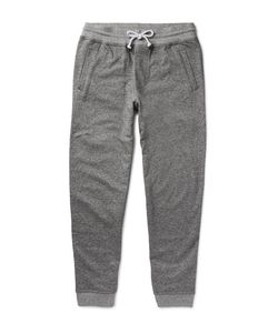 Brunello Cucinelli | Tapered Mélange Cotton-Jersey Sweatpants