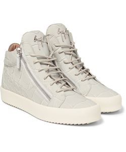 Giuseppe Zanotti | Croc-Effect Leather High-Top Sneakers