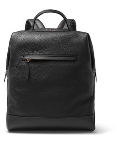 Globe-Trotter | Grained-Leather Backpack