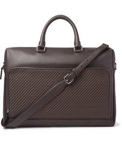 Ermenegildo Zegna | Pelle Tessuta Leather Briefcase