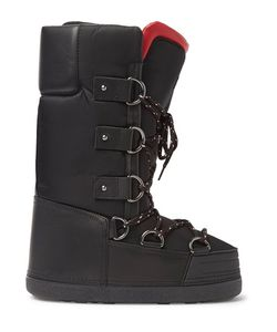 Moncler Grenoble | Leather-Trimmed Shell Snow Boots
