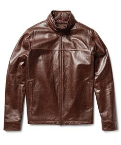Isaia | Washed-Leather Jacket