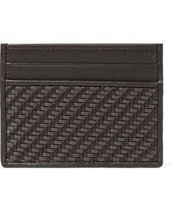 Ermenegildo Zegna | Pelle Tessuta Leather Cardholder