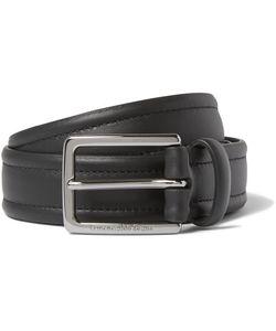 Ermenegildo Zegna | 3cm Stitched Leather Belt