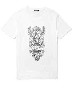 Balmain   Printed Cotton-Jersey T-Shirt