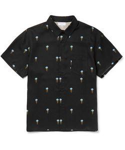 John Elliott   Jellyfish-Print Twill Shirt