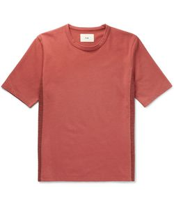 Folk | Panelled Cotton-Jersey T-Shirt