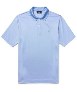 Dunhill | Mulberry Silk And Cotton-Blend Polo Shirt