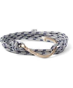 Miansai | Cord And Gold-Plated Hook Wrap Bracelet