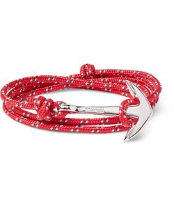Miansai | Cord And Silver-Plated Anchor Wrap Bracelet