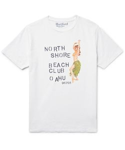 Hartford | Slim-Fit Printed Slub Cotton-Jersey T-Shirt