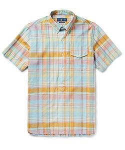 Polo Ralph Lauren   Button-Down Collar Checked Cotton-Poplin Shirt