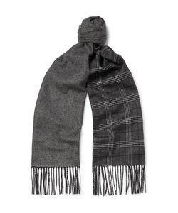 Dunhill | Patterned Mulberry Silk And Cashmere-Blend Scarf