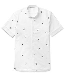 Neil Barrett   Slim-Fit Printed Cotton-Poplin Shirt