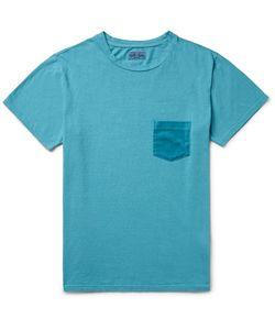 Blue Blue Japan | Slim-Fit Velour-Trimmed Cotton-Jersey T-Shirt