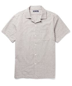 Alex Mill | Camp-Collar Checked Cotton-Seersucker Shirt