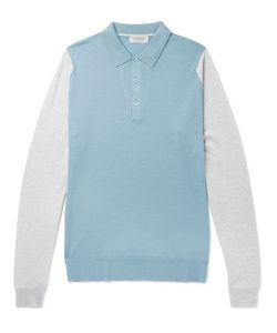 John Smedley | Hindlow Two-Tone Merino Wool Sweater