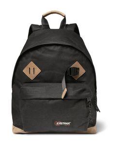 Eastpak   Padded Pakrreg Leather-Trimmed Canvas Backpack