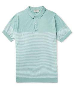 John Smedley | Kiefer Striped Cotton Polo Shirt