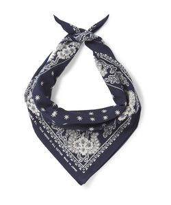 Rrl | Indigo-Dyedprint Cotton Bandana