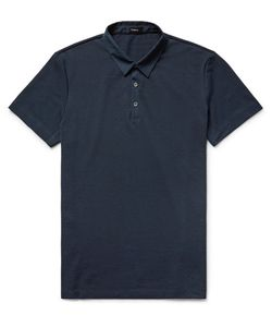 Theory | Slim-Fit Poplin-Trimmed Pima Cotton-Piqué Polo Shirt