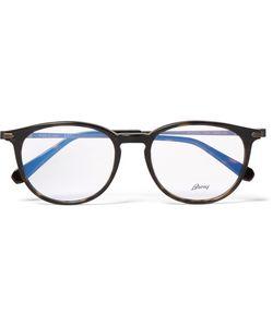 Brioni | Round-Frame Acetate And Tone Optical Glasses