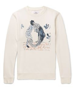 Folk | Goss Brothers Alligator Printed Loopback Cotton-Jersey Sweatshirt