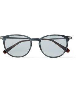 Brioni | Round-Frame Acetate And Ruthenium Sunglasses