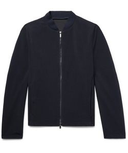 Giorgio Armani   Slim-Fit Textured-Wool Bomber Jacket