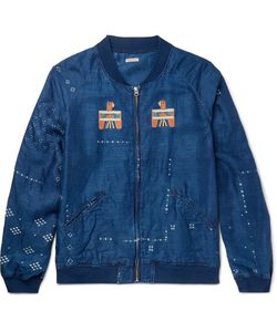 Kapital | Oversized Printed Washed-Linen Blouson Jacket