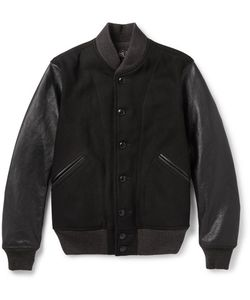 Rrl | Sonny Leather-Panelled Wool-Blend Bomber Jacket