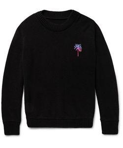 The Elder Statesman | Palm Tree-Intarsia Cashmere Sweater