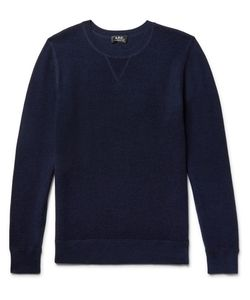 A.P.C. | A.P.C. David Textured Wool And Cotton-Blend Sweater
