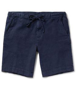 Loro Piana   Stretch Linen And Cotton-Blend Drawstring Shorts