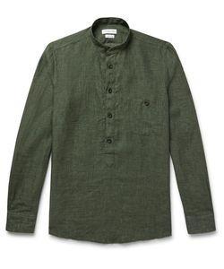 Richard James | Grandad-Collar Linen Shirt