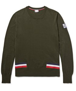 Moncler Gamme Bleu | Stripe-Trimmed Cotton Sweater