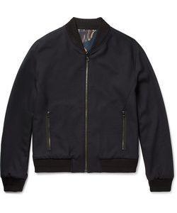 Wooyoungmi | Reversible Stretch-Wool Bomber Jacket