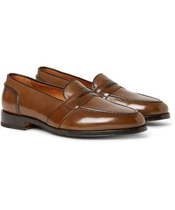 Tom Ford   Taylor Polished-Leather Penny Loafers