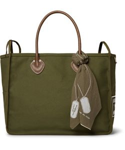 Kapital | Leather-Trimmed Cotton-Canvas Holdall