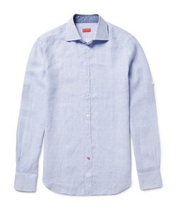 Isaia | Slim-Fit Checked Linen Shirt