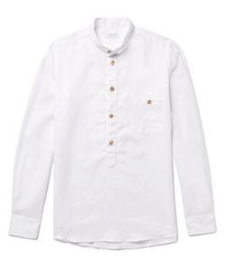 Richard James | Slim-Fit Grandad-Collar Linen Shirt