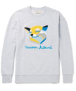 Maison Kitsuné | Terry-Appliquéd Loopback Cotton-Jersey Sweatshirt