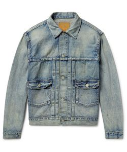 Rrl | Distressed Selvedge Denim Jacket