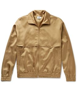 Cmmn Swdn | Appliquéd Satin Zip-Up Jacket